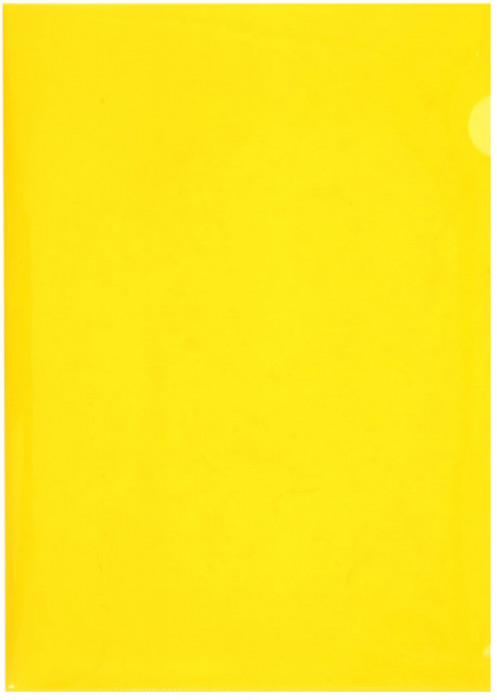 Durable Папка-уголок формат A4 цвет желтый 10 шт папка уголок hatber monster high дракулаура цвет черный розовый формат а4
