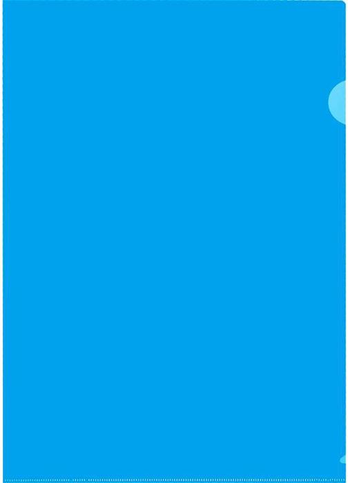 Durable Папка-уголок формат A4 цвет синий 10 шт папка уголок hatber monster high дракулаура цвет черный розовый формат а4