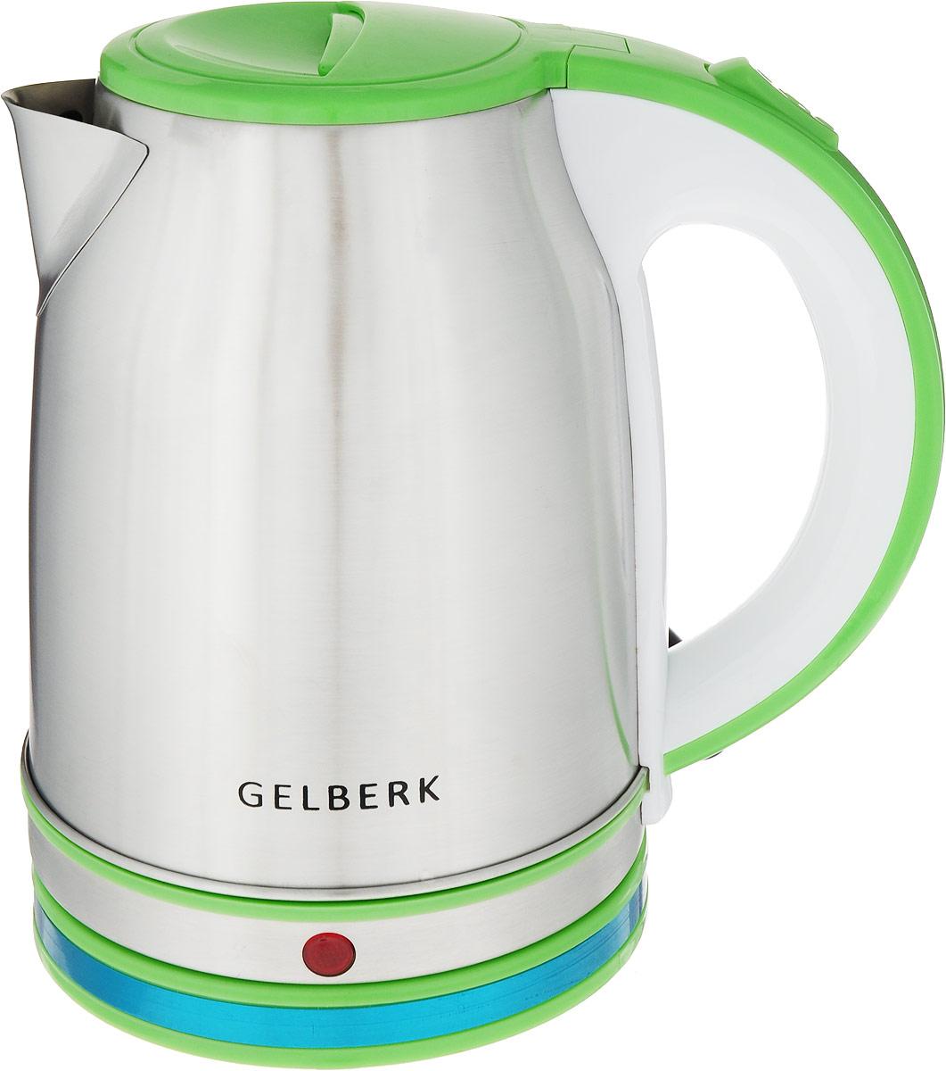 Электрический чайник Gelberk GL-326_САЛАТОВЫЙ, зеленый