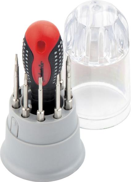 Отвертка для точных работ Matrix Fusion, с насадками, 3-компонентная рукоятка, 11 предметов набор kraftool отвертки для ремонта мобильных телефонов 12 предметов