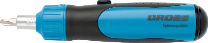 Отвертка реверсивная Gross, с механизмом SmartPush, 12 шт отвертка реверсивная с битами gross smartpush mini 11609