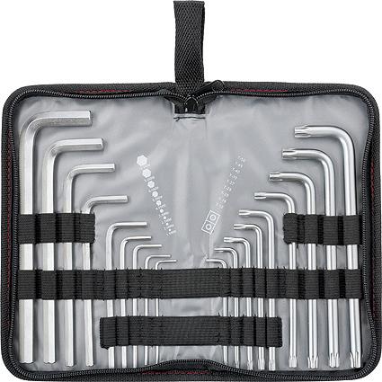 Набор имбусовых ключей Matrix Hex-Torx, удлиненных, 1,5–10 мм/T10-T50, 18 шт набор шестигранников matrix удлиненных 9 шт