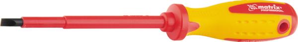 Отвертка Matrix Insulated. Professional, до 1000 В, 2-компонентная рукоятка, SL3,0 x 80 мм