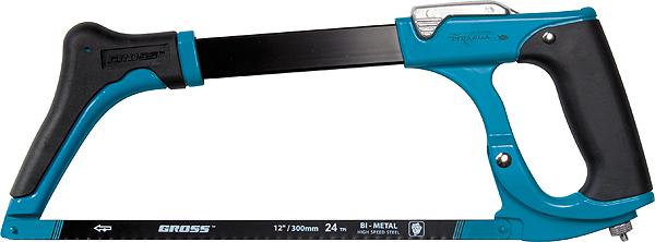 Ножовка по металлу Gross Piranha, рычажный механизм натяжения полотна, 30 см ножовка gross 77600 piranha 300 мм по металлу обрезиненная рукоятка и захват