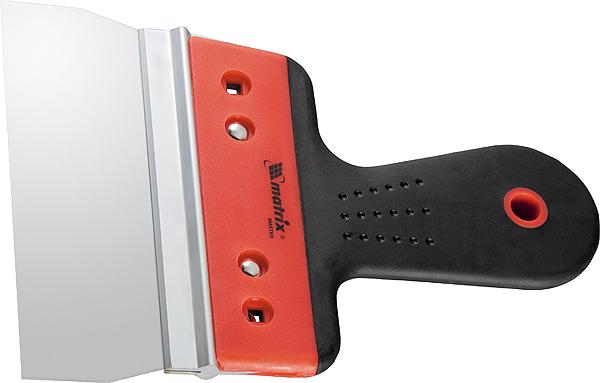 Шпатель фасадный Matrix, узкое полотно, 2-компонентная ручка, 200 мм шпатель фасадный из нержавеющей стали 150 мм узкое полотно 2 комп ручка matrix