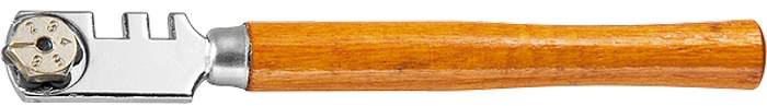 Стеклорез Matrix, 6-роликовый, с деревянной ручкой