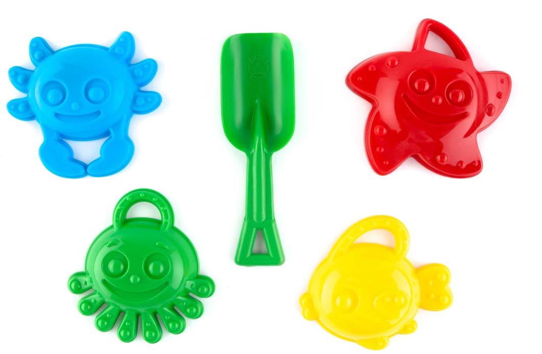Пластмастер Набор формочек для песочницы Морские друзья игрушки для песка пластмастер набор пластмастер принцесса 2