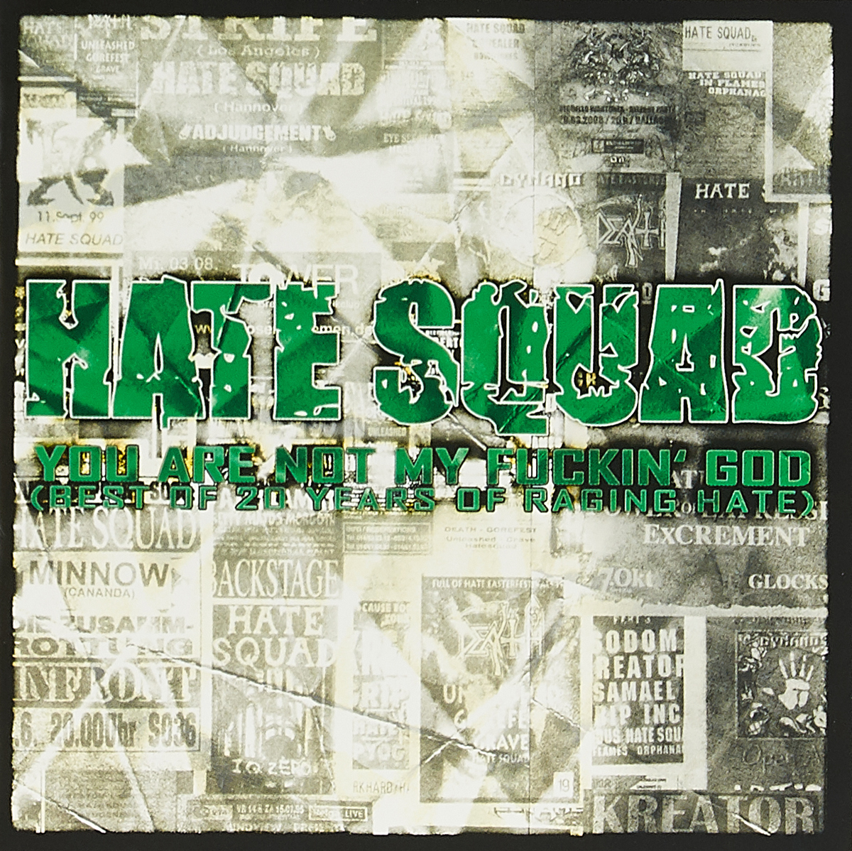 Фото - Hate Squad Hate Squad. You Are Not My Fuckin' God (Best Of 20 Years Of Raging Hate) (2 CD) hate squad hate squad katharsis