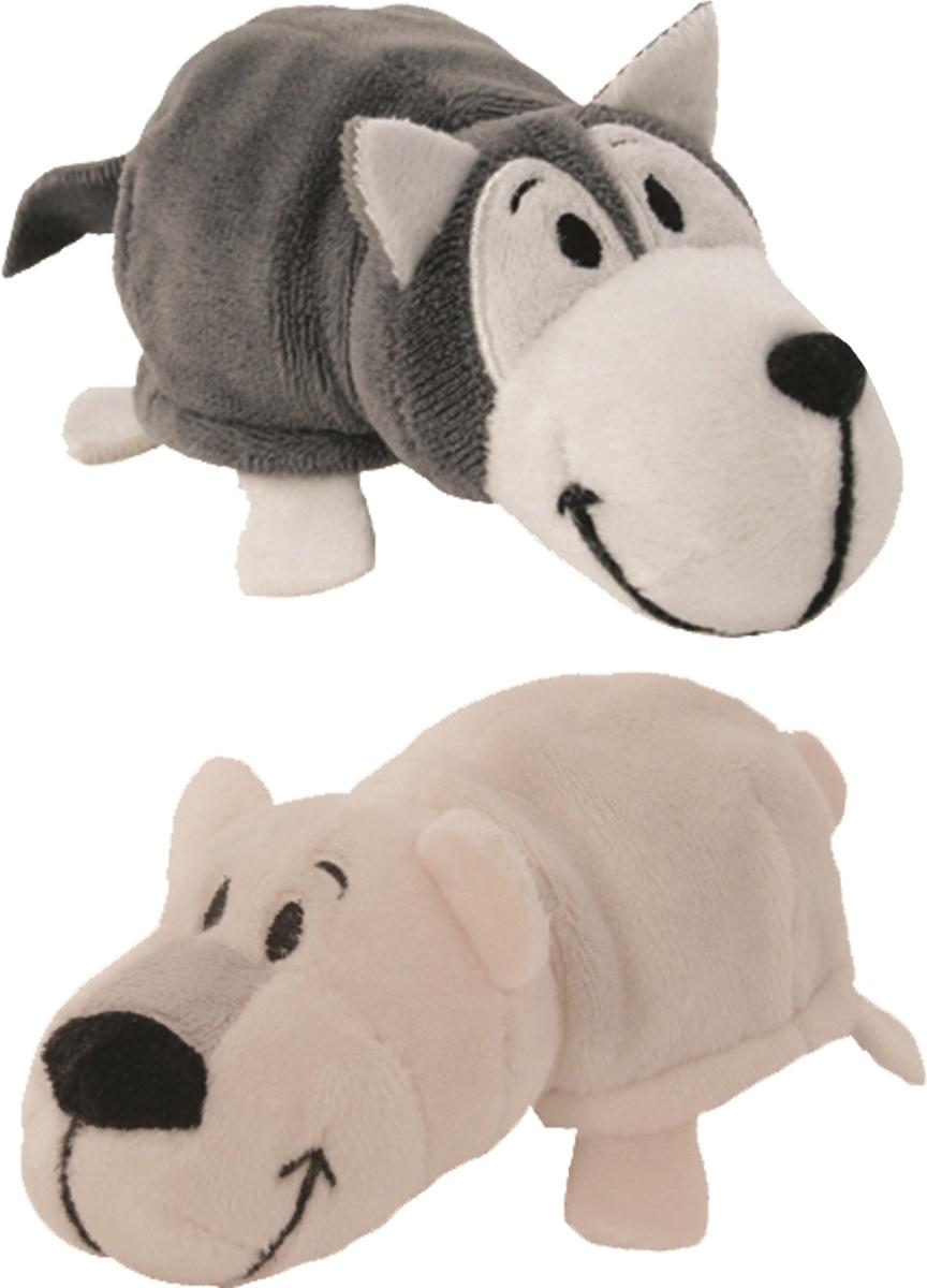 1TOYМягкая игрушкаВывернушка 2в1 Хаски-Полярный медведь 12 см цена в Москве и Питере