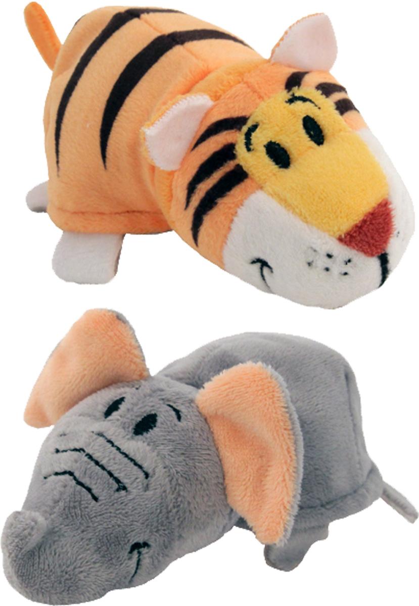 1TOYМягкая игрушкаВывернушка 2в1 Слон-Тигр 12 см игрушка 1toy вывернушка 2в1 тигр слон т10876