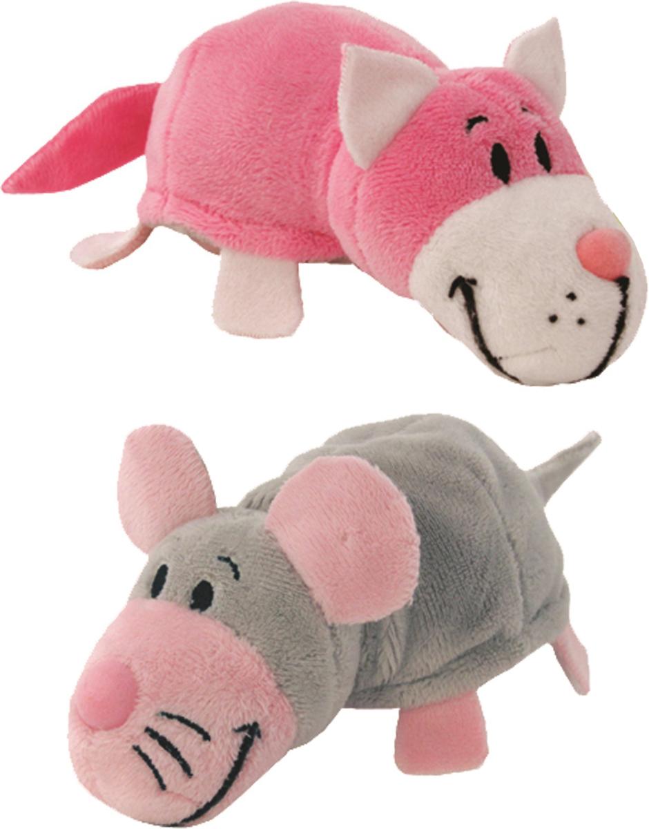 Фото - 1TOYМягкая игрушкаВывернушка 2в1 Розовый кот-Мышка 12 см мягкая игрушка 1 toy вывернушка 2в1 розовый кот мышка