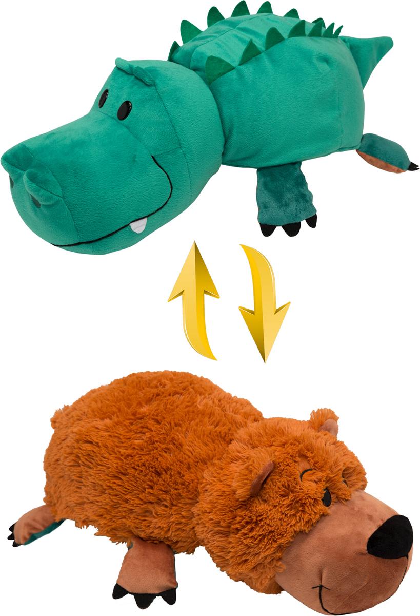 1TOY <b>Мягкая игрушка Вывернушка</b> 2в1 Аллигатор-Медвежонок ...