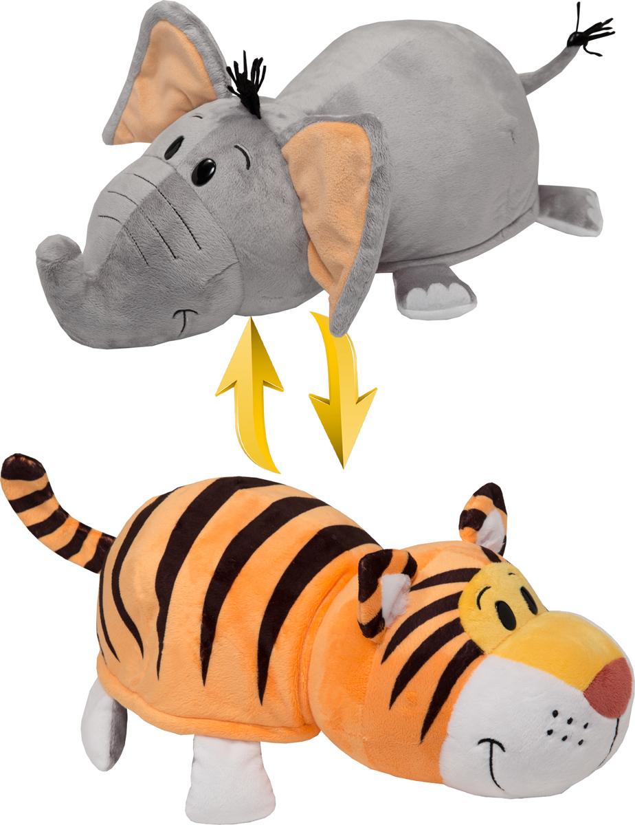 1TOYМягкая игрушкаВывернушка 2в1 Тигр-Слон 40 см игрушка 1toy вывернушка 2в1 тигр слон т10876