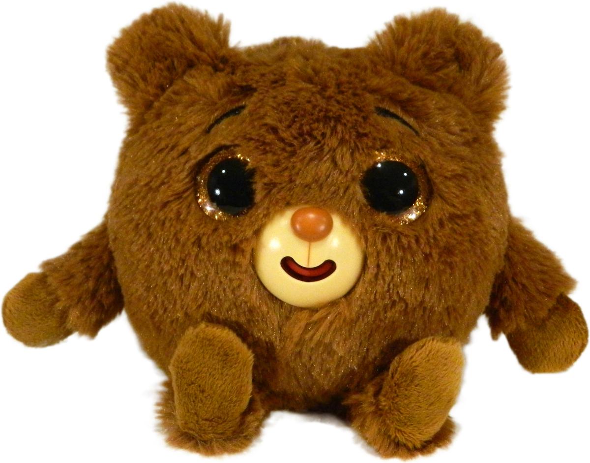 1TOYМягкая озвученная игрушка Дразнюка-Zoo Медвежонок 13 см 1toyмягкая озвученная игрушка дразнюка zoo лисичка 13 см
