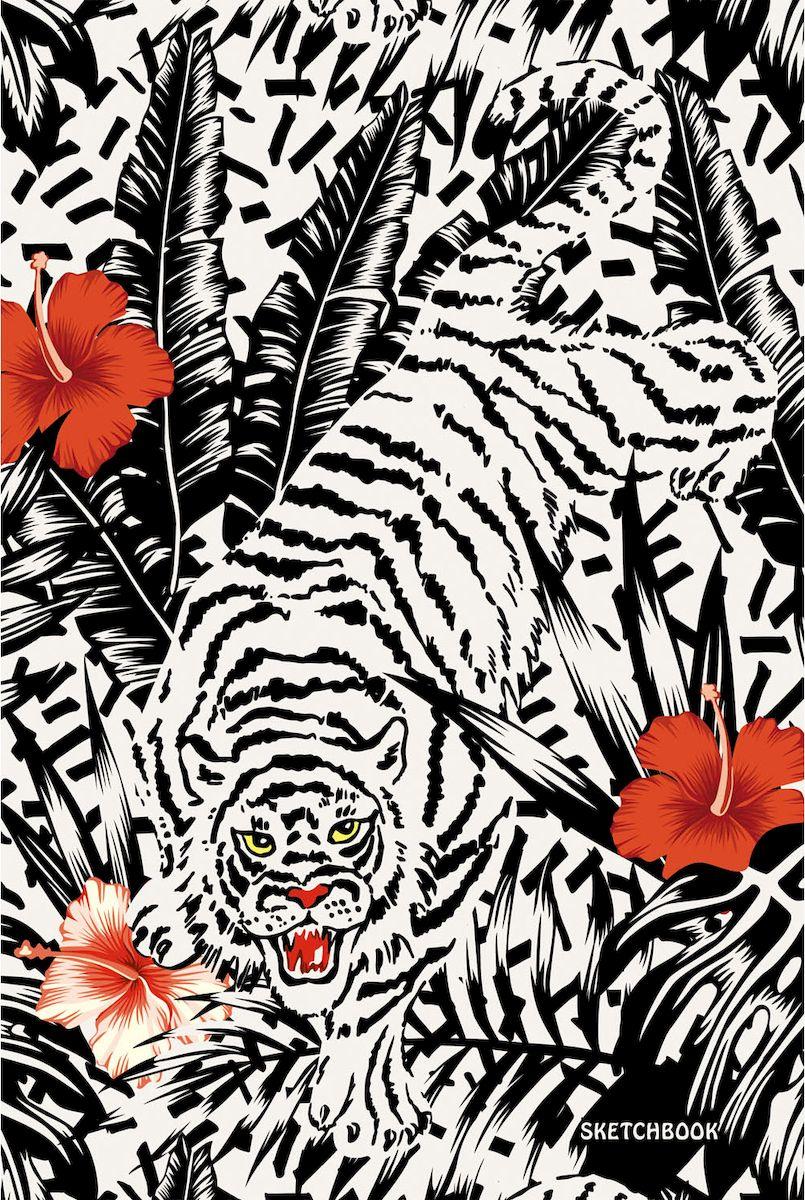 Listoff Скетчбук Тигр в джунглях 100 листов