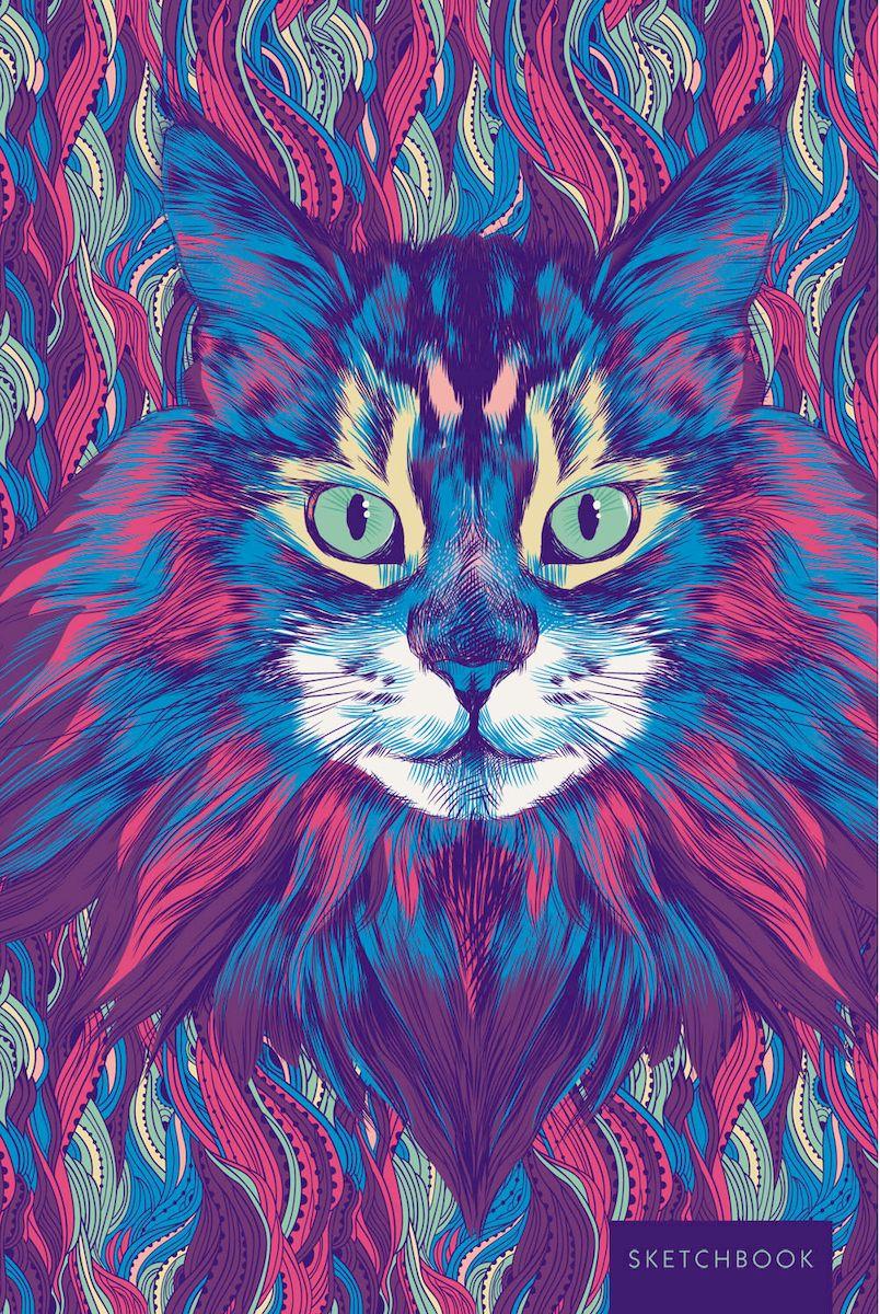 Listoff Скетчбук Дикий кот 100 листов