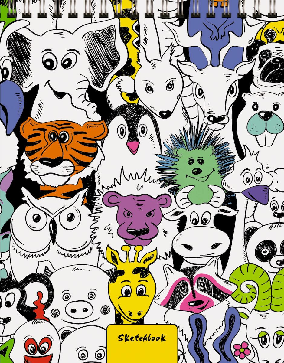 Listoff Скетчбук Зоопарк 80 листов