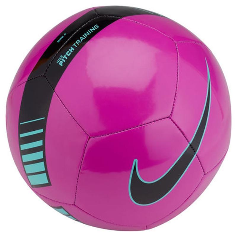 Мяч футбольный Nike Pitch Training Football, цвет: фиолетовый, черный. Размер 3 футбольный мяч nike pitch training sc3893 639