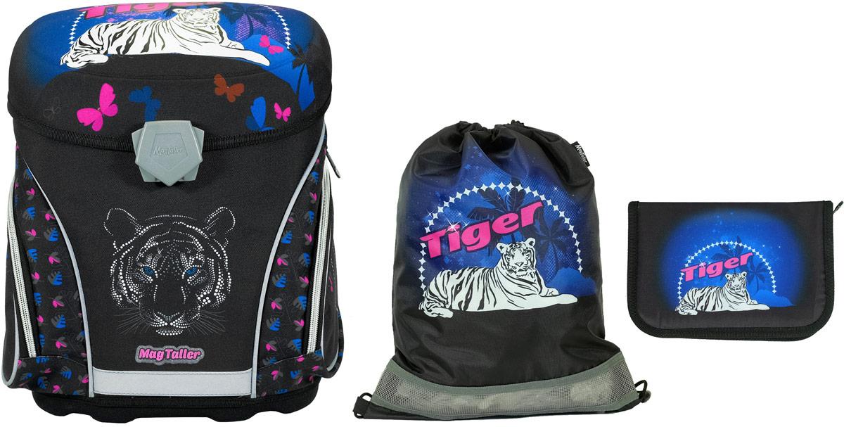Magtaller Ранец школьный J-flex Tiger с наполнением 29 предметов mag taller mag taller ранец школьный j flex football с наполнением синий