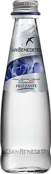 San Benedetto Вода газированная минеральная природная питьевая столовая, 0,2 л, стекло