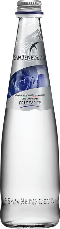 San Benedetto Вода газированная минеральная природная питьевая столовая, 0,5 л, стекло