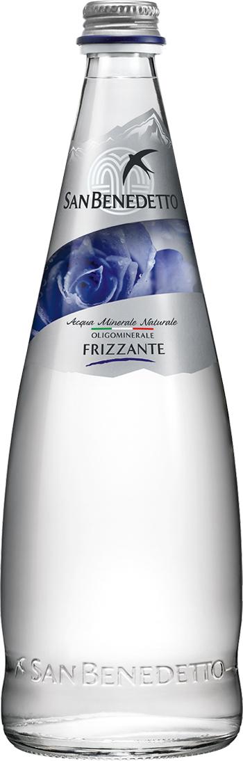 San Benedetto Вода газированная минеральная природная питьевая столовая, 1 л, стекло