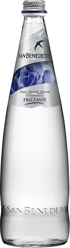 San Benedetto Вода газированная минеральная природная питьевая столовая, 0,75 л, стекло