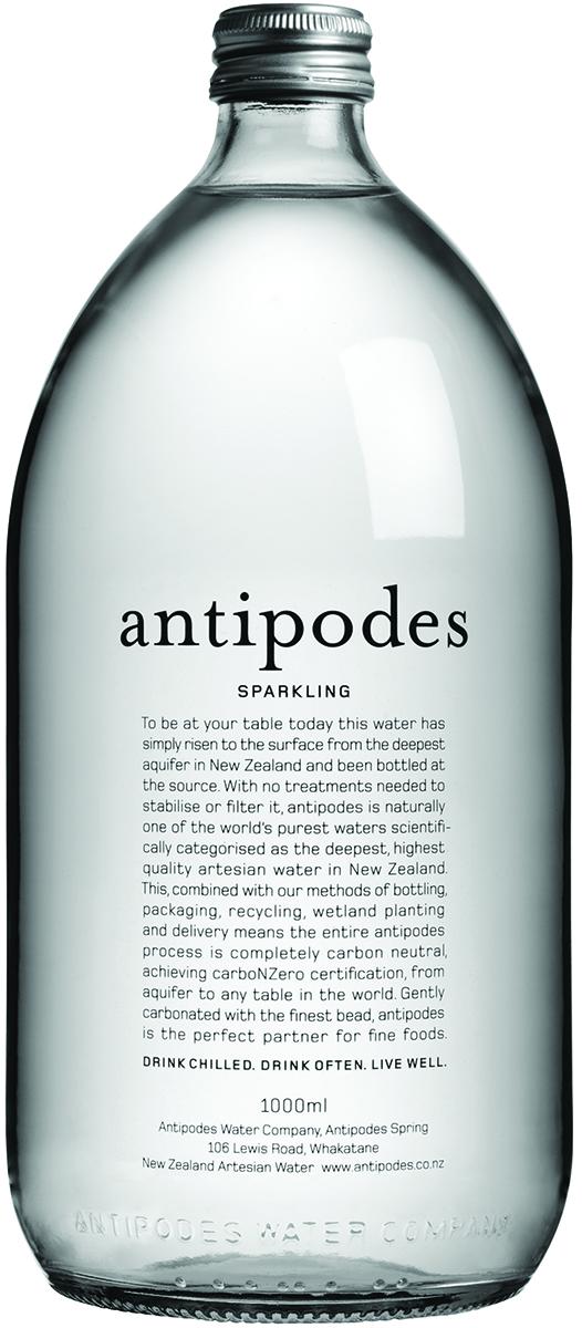 Antipodes Вода газированная минеральная природная питьевая столовая, 1 л