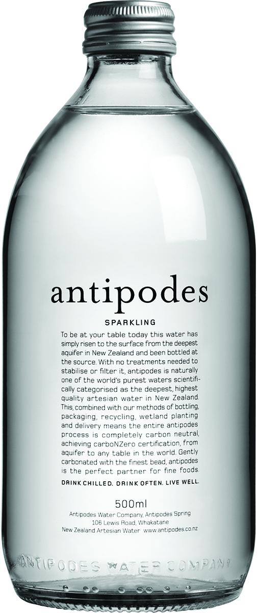 Antipodes Вода газированная минеральная природная питьевая столовая, 0,5 л