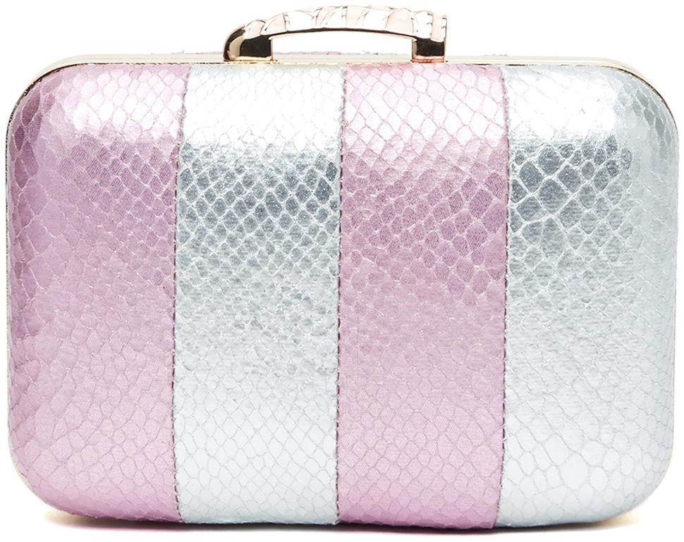 Клатч женский Vitacci, цвет: розовый, серебристый. C0195 клатч vitacci vitacci vi060bwckax5