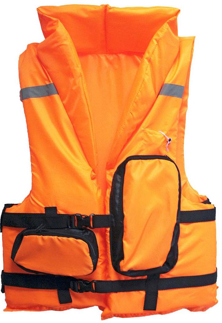 Жилет спасательный Таежник Каскад-2, цвет: оранжевый. Размер 48-52 спасательный жилет таежник спринт универсальный