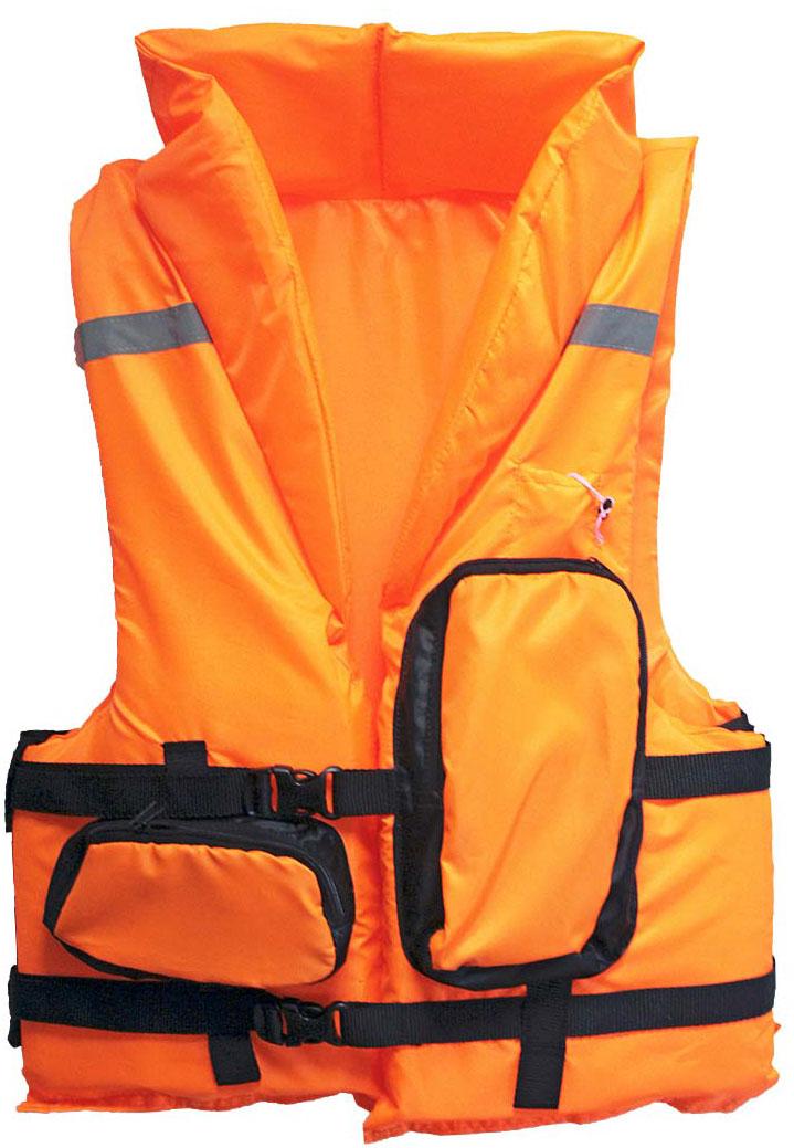 Жилет спасательный Таежник Каскад-2, цвет: оранжевый. Размер 52-56 спасательный жилет таежник спринт универсальный