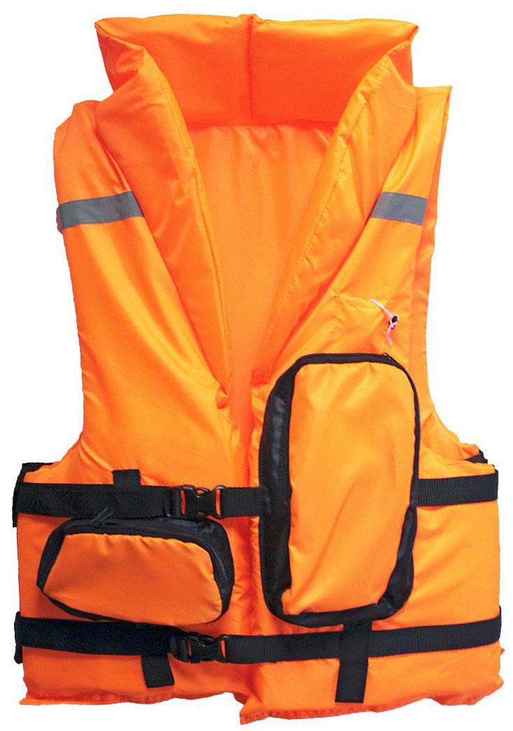 Жилет спасательный Таежник Каскад-2, цвет: оранжевый. Размер 58-64 спасательный жилет таежник спринт универсальный
