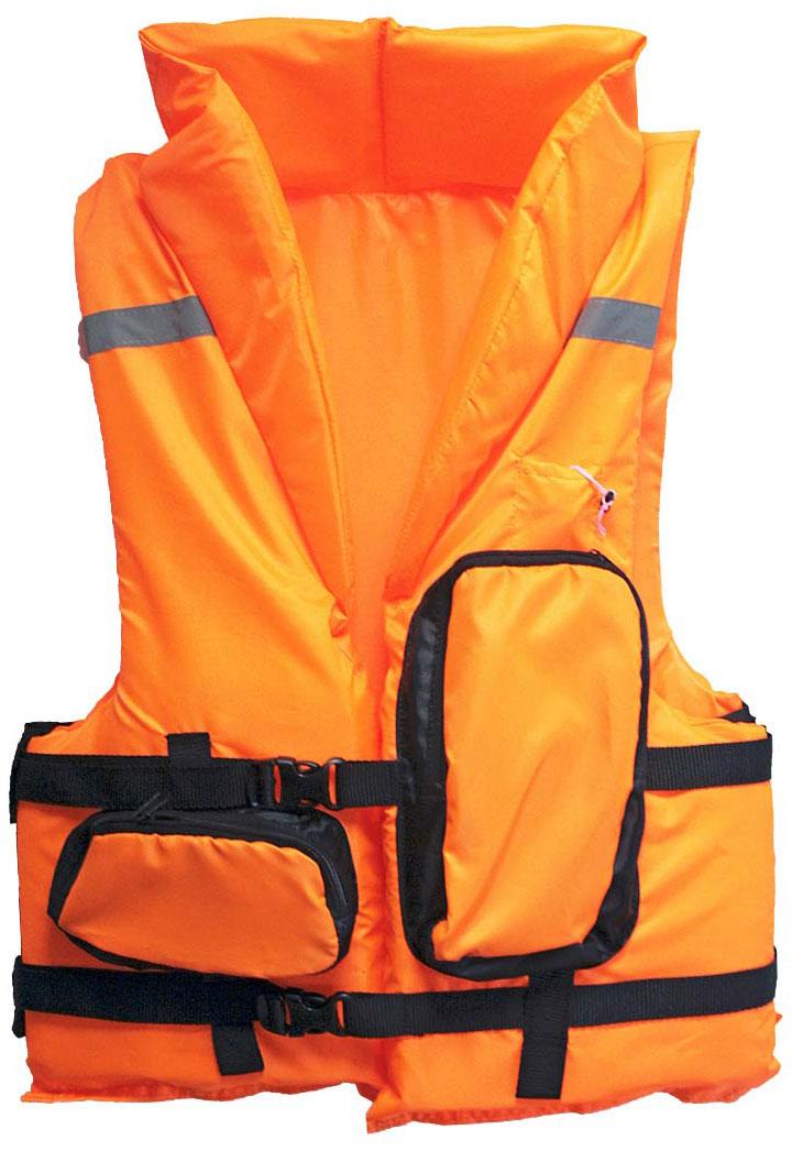 Жилет спасательный Таежник Каскад-2, цвет: оранжевый. Размер 44-48 спасательный жилет таежник спринт универсальный