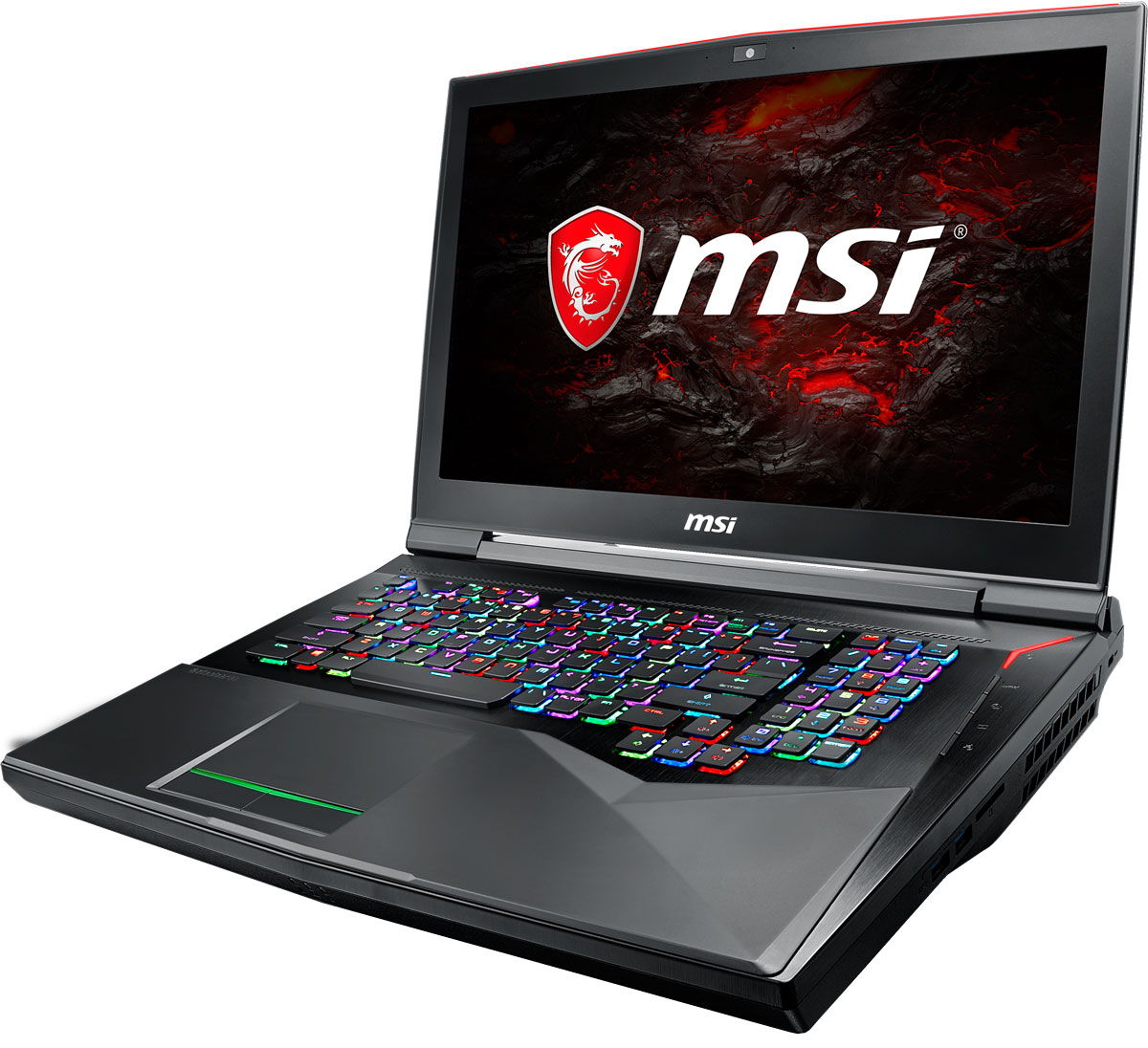 17.3 Игровой ноутбук MSI GT75 Titan 8RG 9S7-17A311-052, черный ноутбук msi gt83 8rg 006ru titan intel core i7 8850h 2600 mhz 18 4 1920х1080 32768mb 512gb hdd blu ray nvidia geforce gtx 1070 х 2 wifi windows 10 home