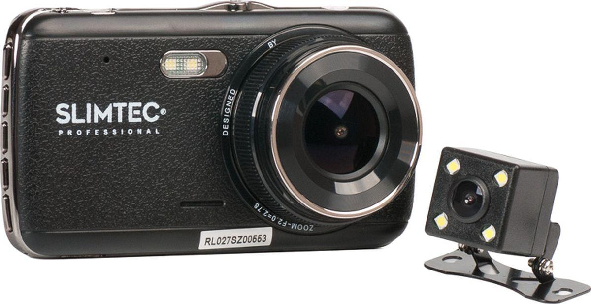 Slimtec Dual S2, Black видеорегистратор зеркало с монитором и камерой slimtec smr vrc3 kit page 6 page 9 page 3 page 6 page 4