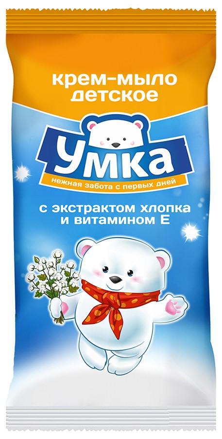 Умка Крем-мыло детское с экстрактом хлопка и витамином Е 80 г Умка