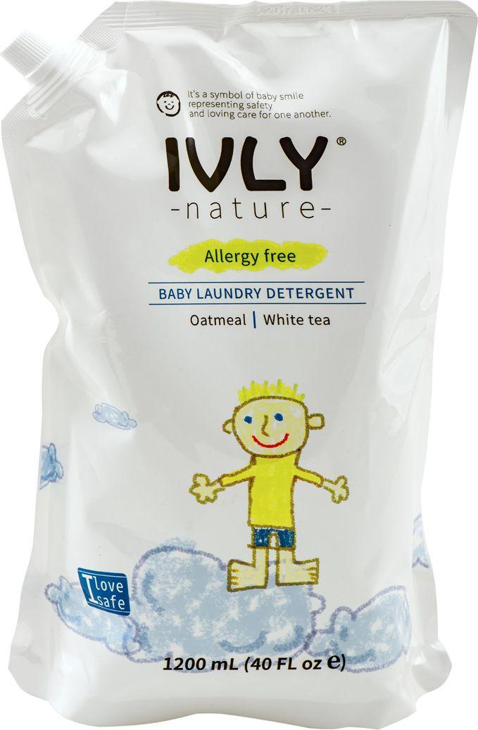 Гипоаллергенное средство для стирки детского белья IVLY Baby Laundry Detergent с экстрактом белого чая, 1,2 л средство для стирки детского белья для маленьких непосед 1 л johnsons baby для стирки