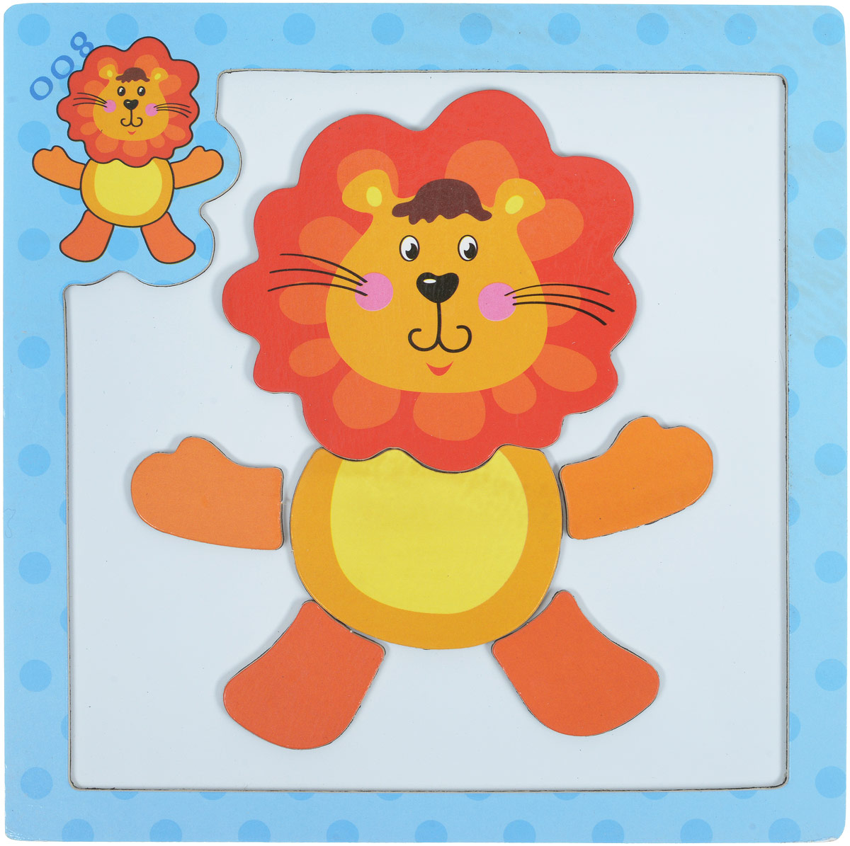 Mapacha Магнитный пазл Животные Лев