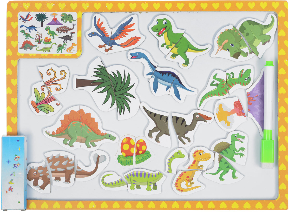 Mapacha Магнитный пазл Сюжеты динозавры