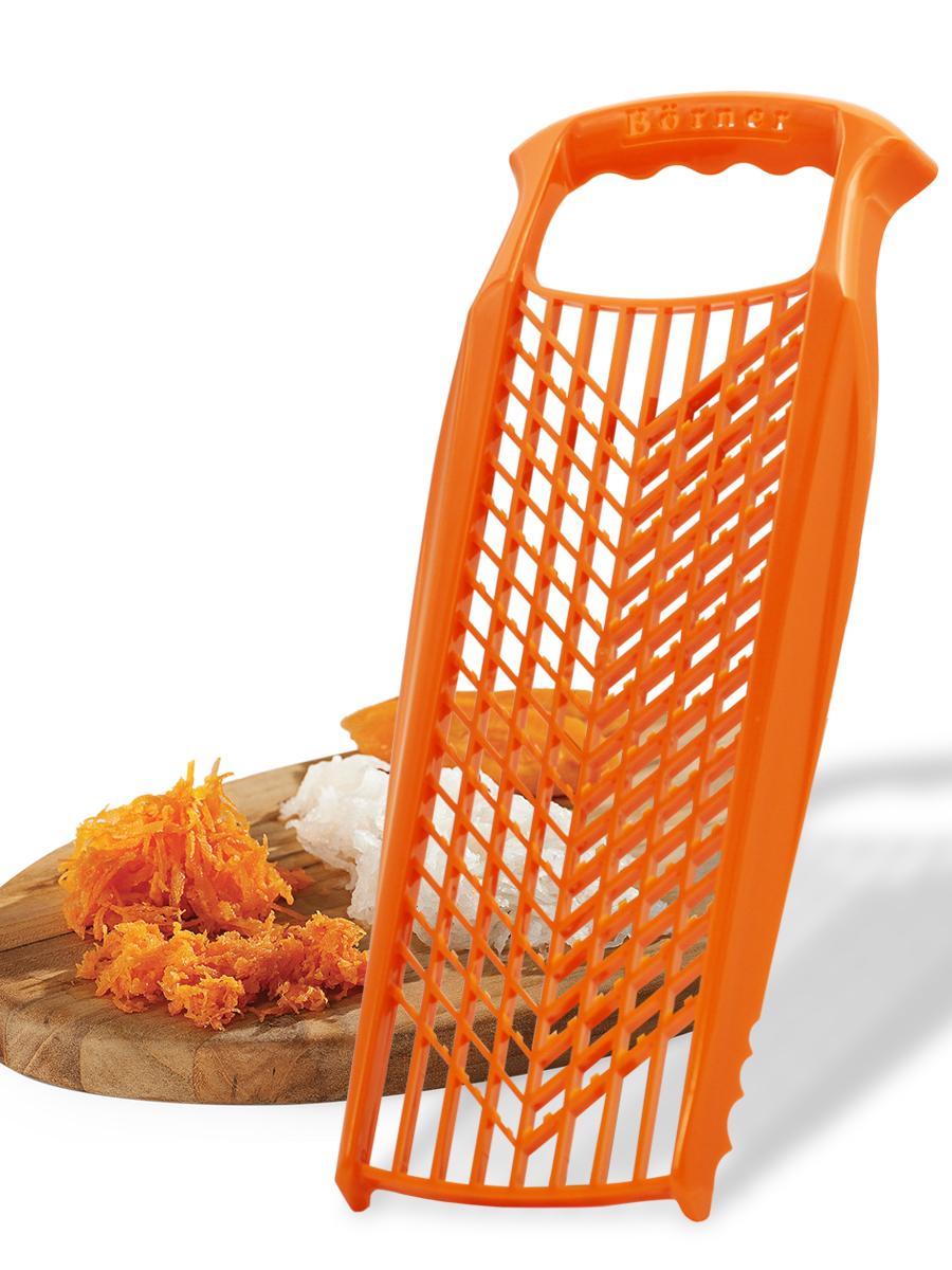 Терка для детского питания Borner Prima, цвет: оранжевый терка для ног деревянная основа двухсторонняя solinberg ширина 60 мм