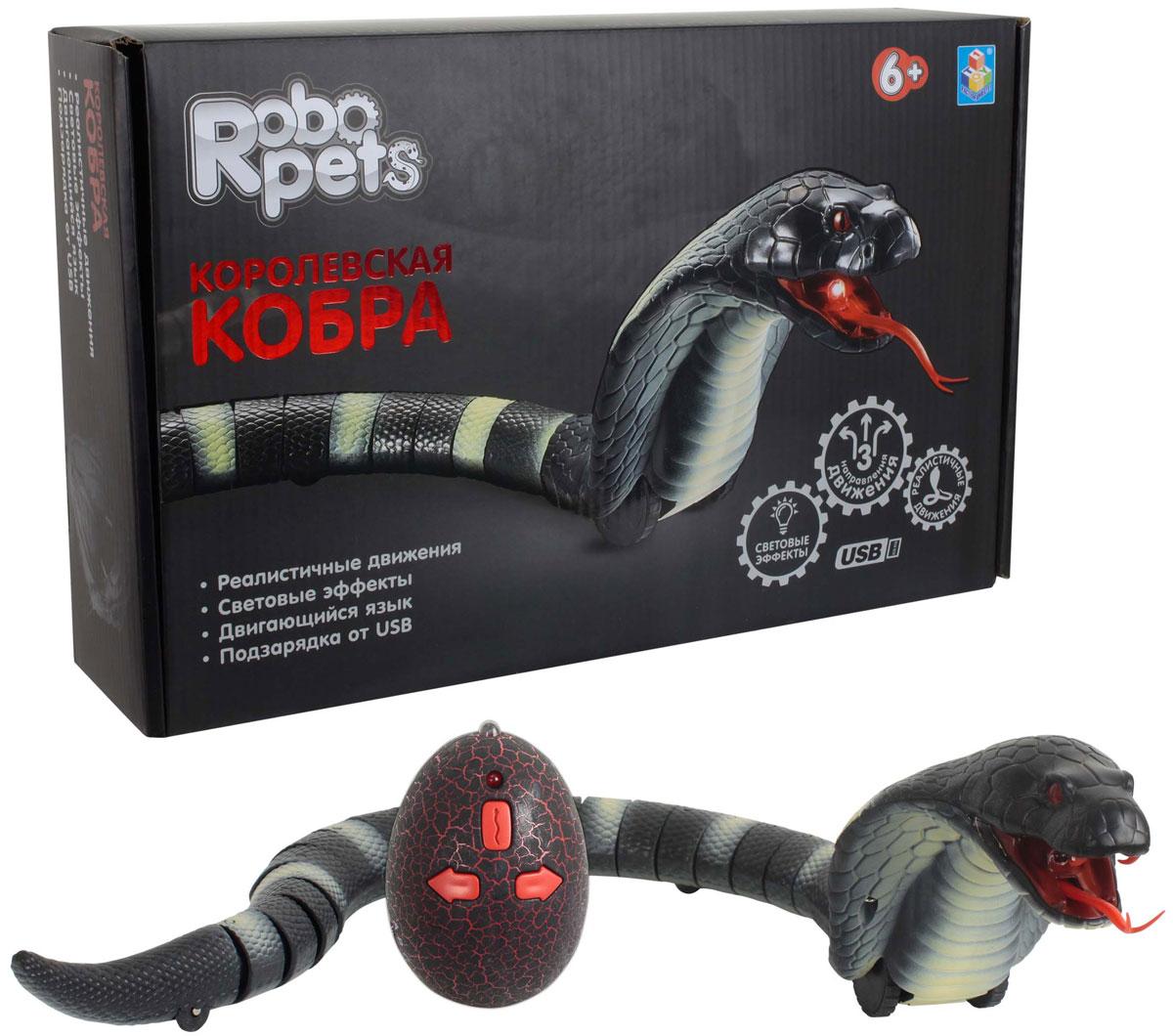 Фото - 1TOY Королевская кобра на ИК управлении цвет черный ик пульт управления для rtb 8 4joy rolsen