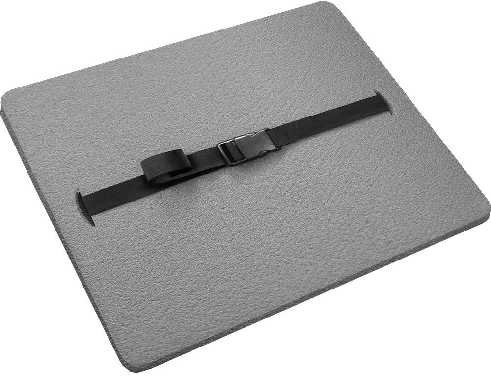"""Сиденье туристическое """"Isolon"""", с карабином 18 мм, цвет: серый, 34 х 27 х 1,8 см"""