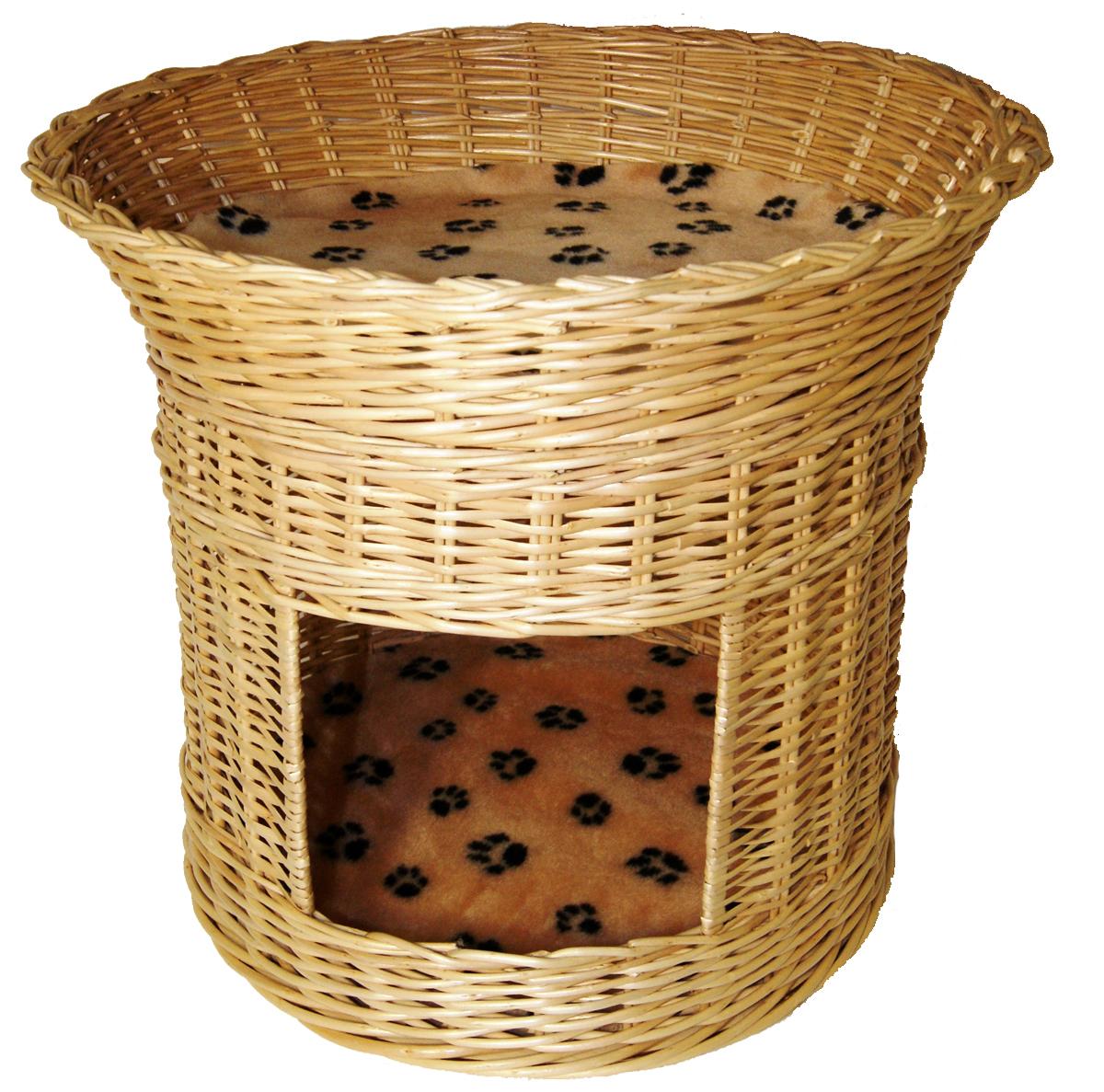 домик для кошек меридиан 2 ярусный цвет леопардовый 54 х 54 х 47 см Домик для кошек Меридиан, 2-ярусный, цвет: лапки, 54 х 54 х 47 см