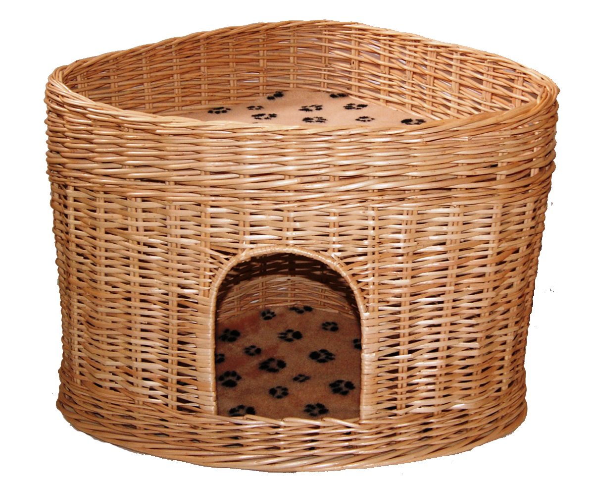 Домик для кошек Меридиан, угловой, 2-ярусный, цвет: лапки, 61 х 43 х 47 см домик когтеточка меридиан геометрия угловой 4 ярусный 55 х 48 х 158 см