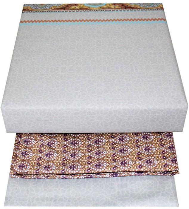 """Комплект белья Tango """"Earlene"""", 1,5-спальный, наволочки 50x70, цвет: бежевый, серый"""