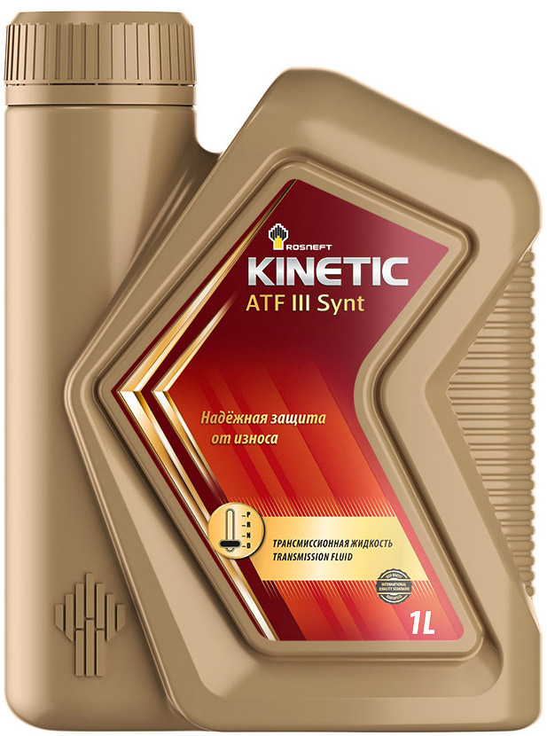 Жидкость Роснефть Kinetic ATF III, синтетическая, 7,3, 1 л жидкость для акпп total fluide g3 1 л