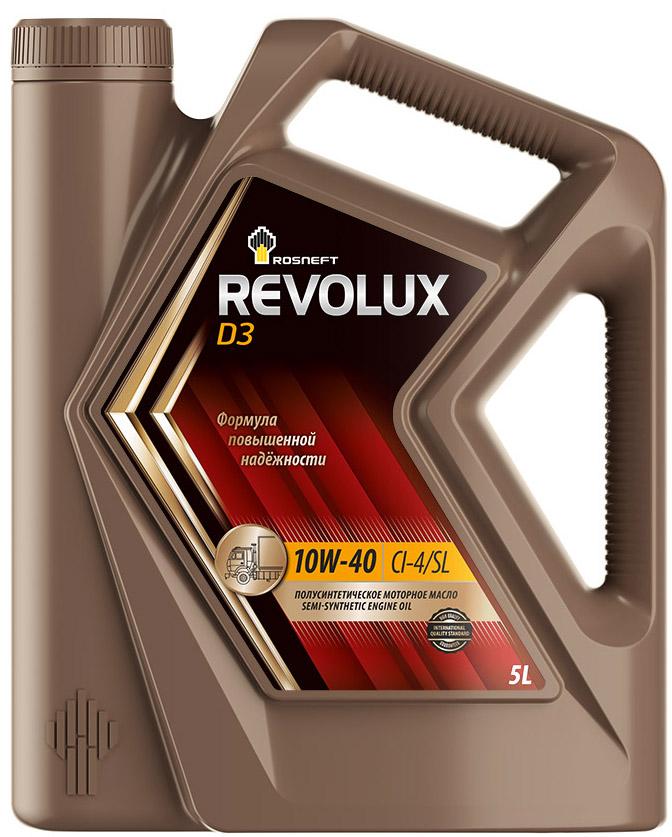 Масло моторное Роснефть Revolux D3, полусинтетическое, 10W-40, 5 л моторное масло mannol diesel extra 10w 40 для дизельных двигателей 5 л полусинтетическое