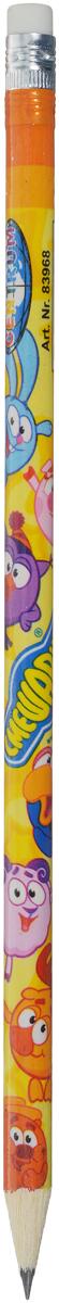 Смешарики Карандаш чернографитный с ластиком