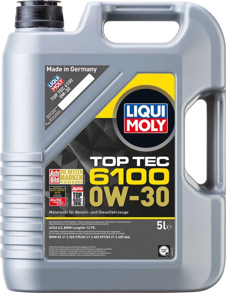 Моторное масло Liqui Moly Top Tec, нс-синтетическое, класс вязкости 0W-30, 5 л liqui moly synthoil longtime plus 0w 30 5л